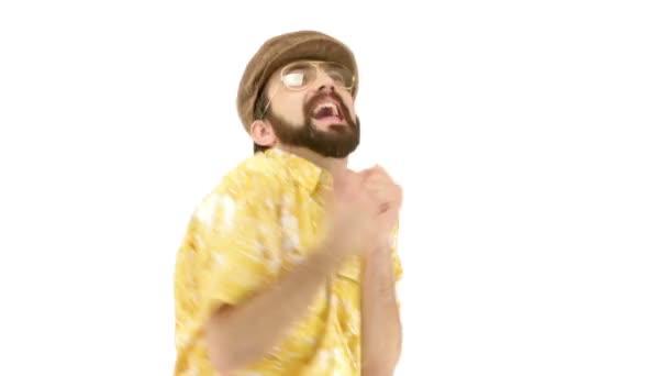 muž oblékání v retro oblečení, tanec
