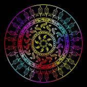 Mandaly. Etnické dekorativní prvky. Ručně kreslenou pozadí. Islám, arabština, indický, osmanské motivy
