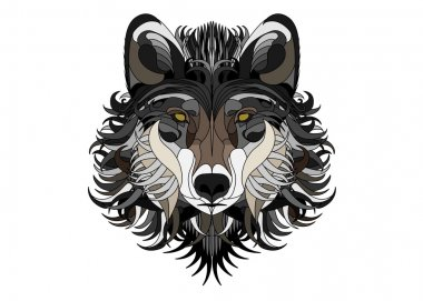 Wolf in vector