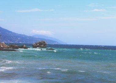 Landscape of the Black Sea off the coast of the Crimea