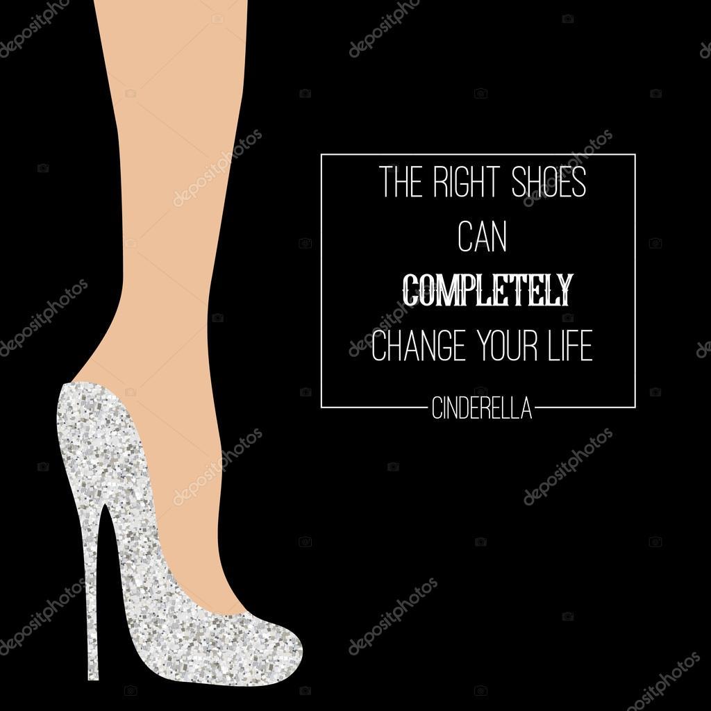 a1a40be835e Cinderella schoenen inspirerende kaart — Stockvector © bonnyheize ...