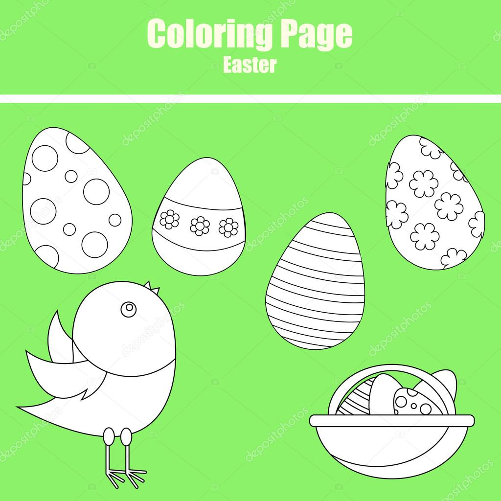 Coloring page. Easter — Stock Vector © bonnyheize.gmail.com #102737810