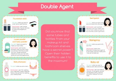 Double agent beauty tips infographic