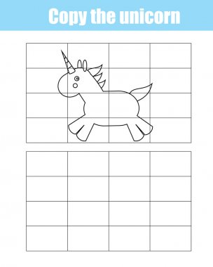 Grid copy children educational creative game