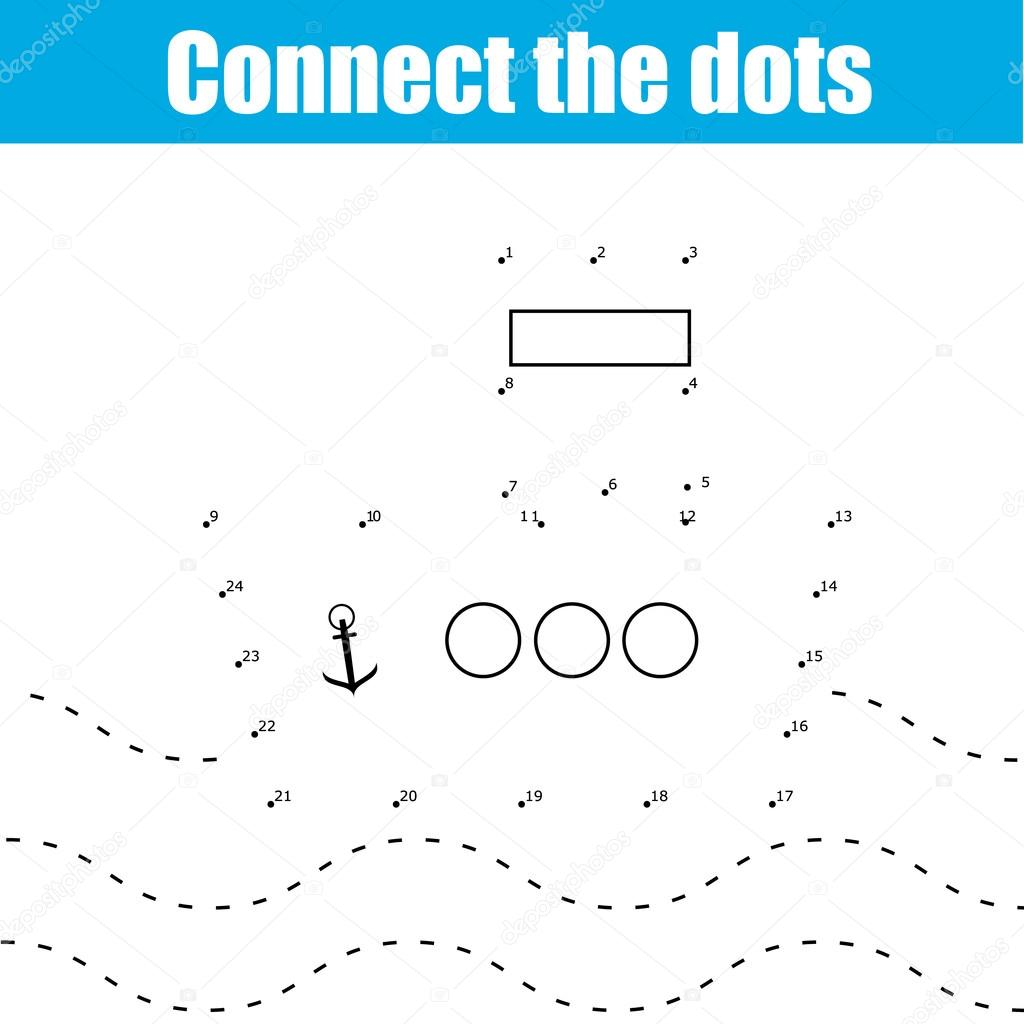Gmail themes dots - Connect The Dots Children Educational Drawing Game Dot To Dot By Numbers Game For Kids Transport Theme For Pre School Age Vector By Bonnyheize Gmail