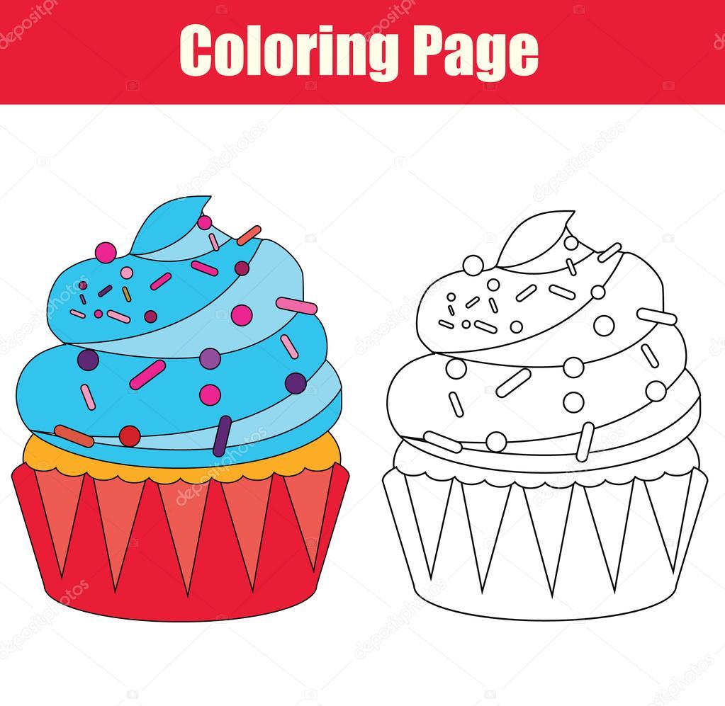 kleurplaat met cupcake stockvector 169 bonnyheize gmail
