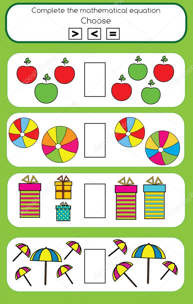 Mathe-Lernspiel für Kinder — Stockvektor © bonnyheize.gmail.com ...