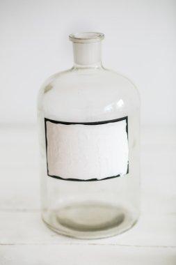 Antique glass bottle retro stylish design
