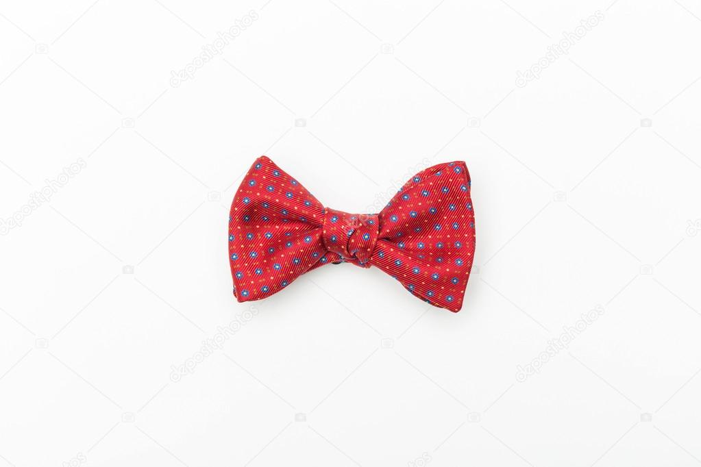 600f38b2 Red isolated handmade bow-tie — Stock Photo © 279photo.gmail.com ...