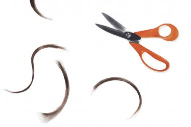 Scissors and Hair Clippings