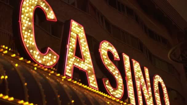 Las Vegas Casino Neon Sign Fokus in und aus Nevada USA