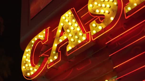 Las Vegas Casino Neon Signs Closeup Nevada USA