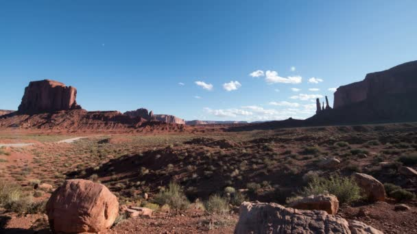 Monument Valley Daytime Lapse of Elephant Butte és három nővér Southwest USA