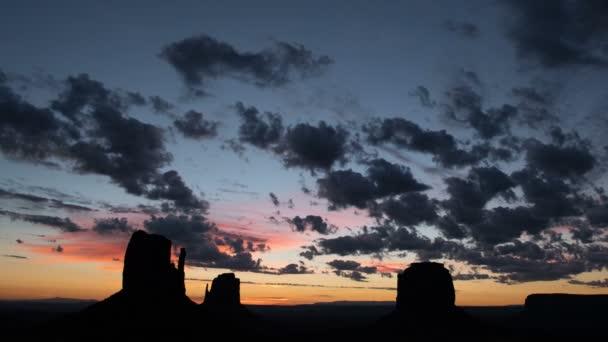 Monument Valley Sunrise Time Lapse Over Buttes Southwest Amerikai Egyesült Államok
