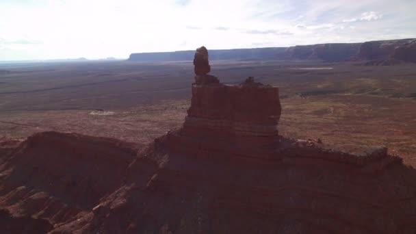 Bears Ears Valley Of The Gods Aerial Shot Southwest Desert Amerikai Egyesült Államok Rotate Descend L