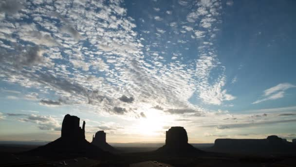 Monument Valley Sunrise To Day Time Lapse Clouds Southwest USA