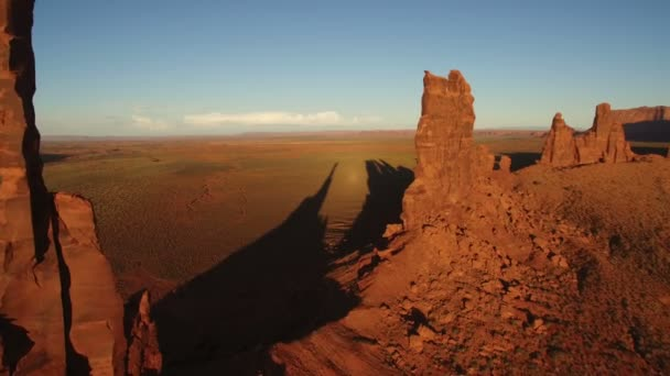 Monument Valley Sunset Aerial Shot Of Totem Pole Rock Formation Southwest Amerikai Egyesült Államok