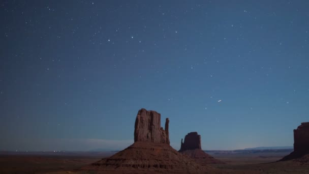 Monument Valley Stars and Airplanes Over East  West Mitten Butte Southwest Amerikai Egyesült Államok