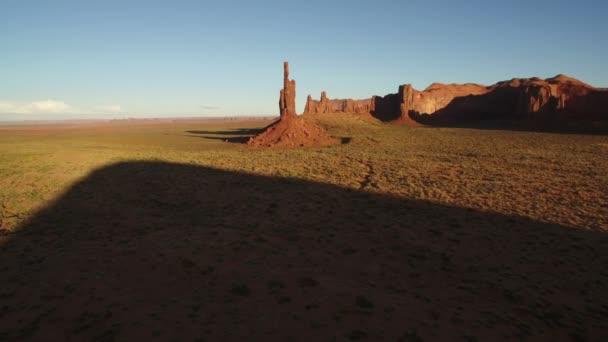 Monument Valley Sunset Aerial Shot Of Totem Pole Rock Formation Southwest Amerikai Egyesült Államok Forward