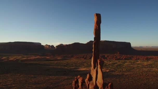 Monument Valley Sunset Aerial Shot Of Totem Pole Rock Formation Southwest Amerikai Egyesült Államok Forgatás L Buttes