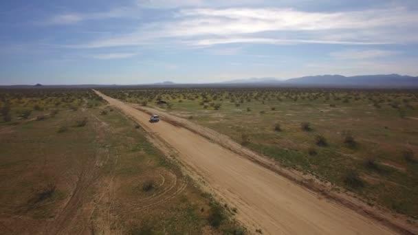 Desert Dirt Road Aerial Shot African Savanna or Mid East