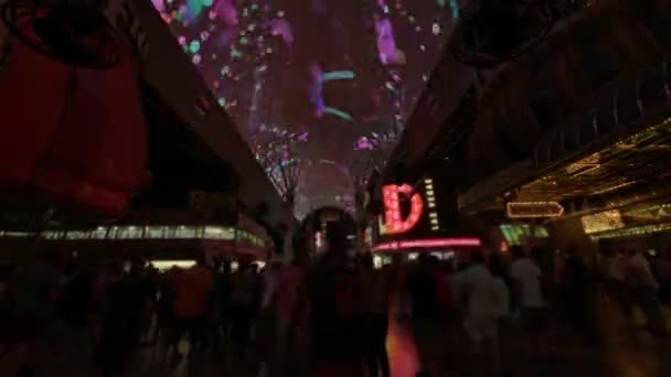 Las Vegas Downtown Fremont Street Projections Time Lapse