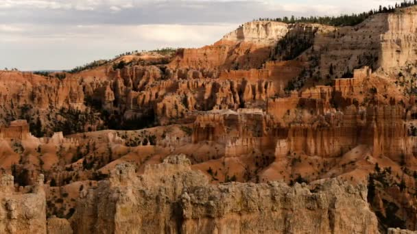 Bryce Canyon National Park Bryce Point From Sunset Point Time Lapse Rock Formation Utah USA Pan Right