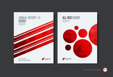 Set of abstract layout brochure, cover annual report template, m