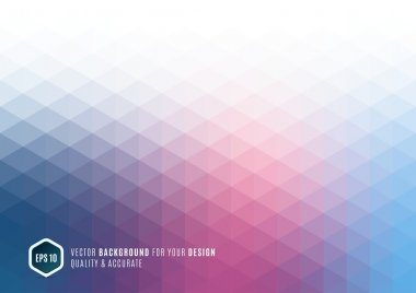 Modern Abstract geometric background with blue triangles for bus