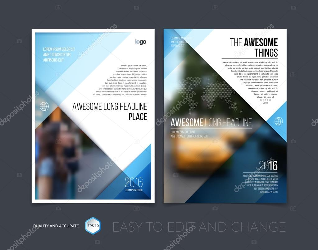 Set Of Brochure Template Layout Cover Design Annual Report Mag