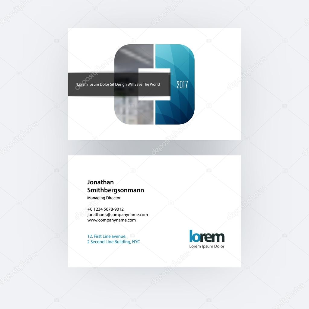 Vector business card template with geometric shape and overlap e vector business card template with geometric shape and overlap e stock vector colourmoves