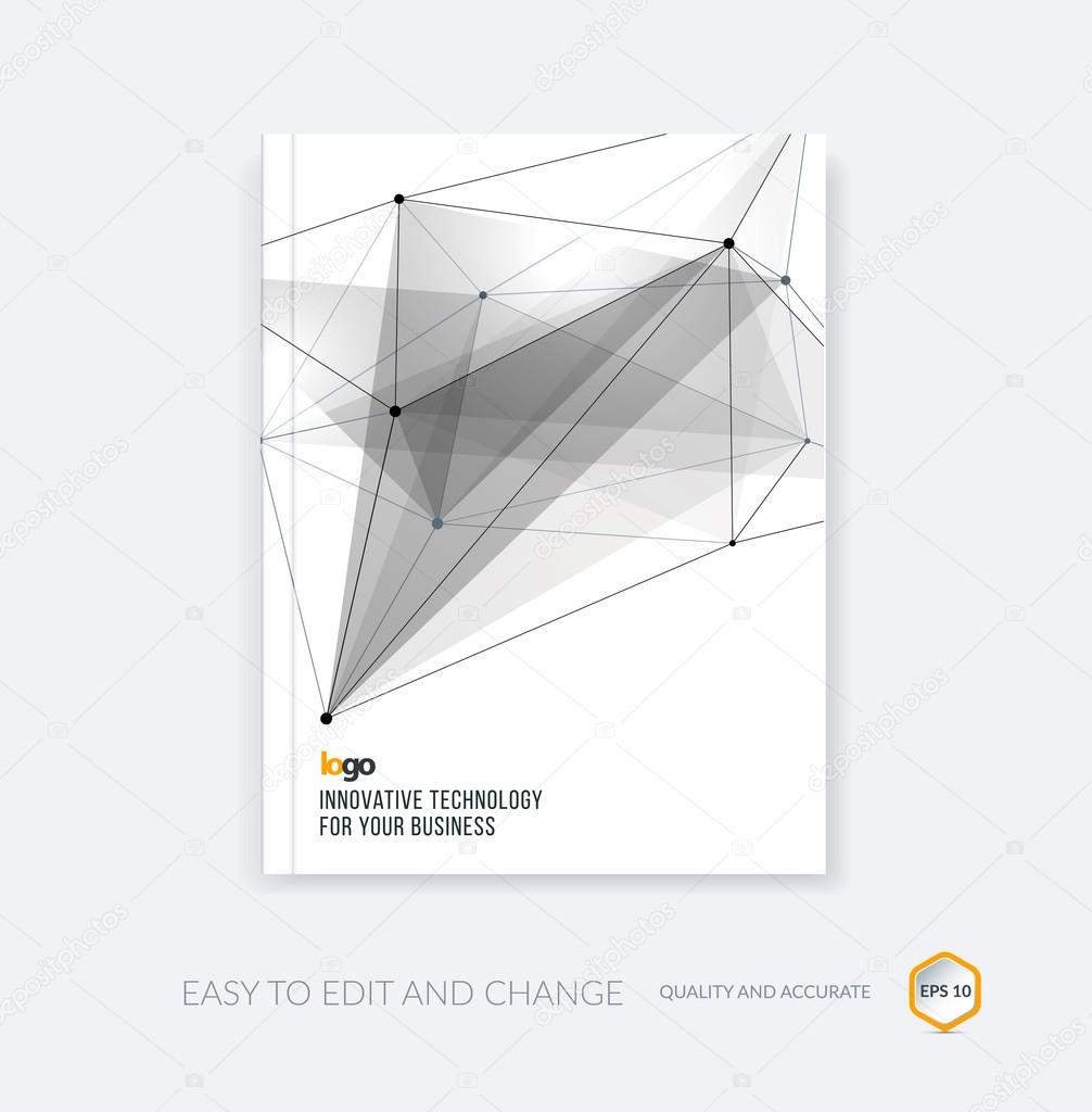 brochure template cover design annual report flyer layout lea