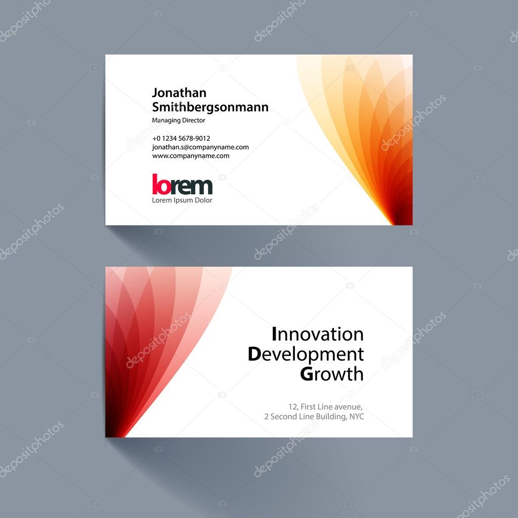 Vector business card template with soft shapes and waves backgro vector business card template with soft shapes and waves backgro stock vector colourmoves