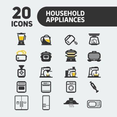 Web icon set. Household appliances