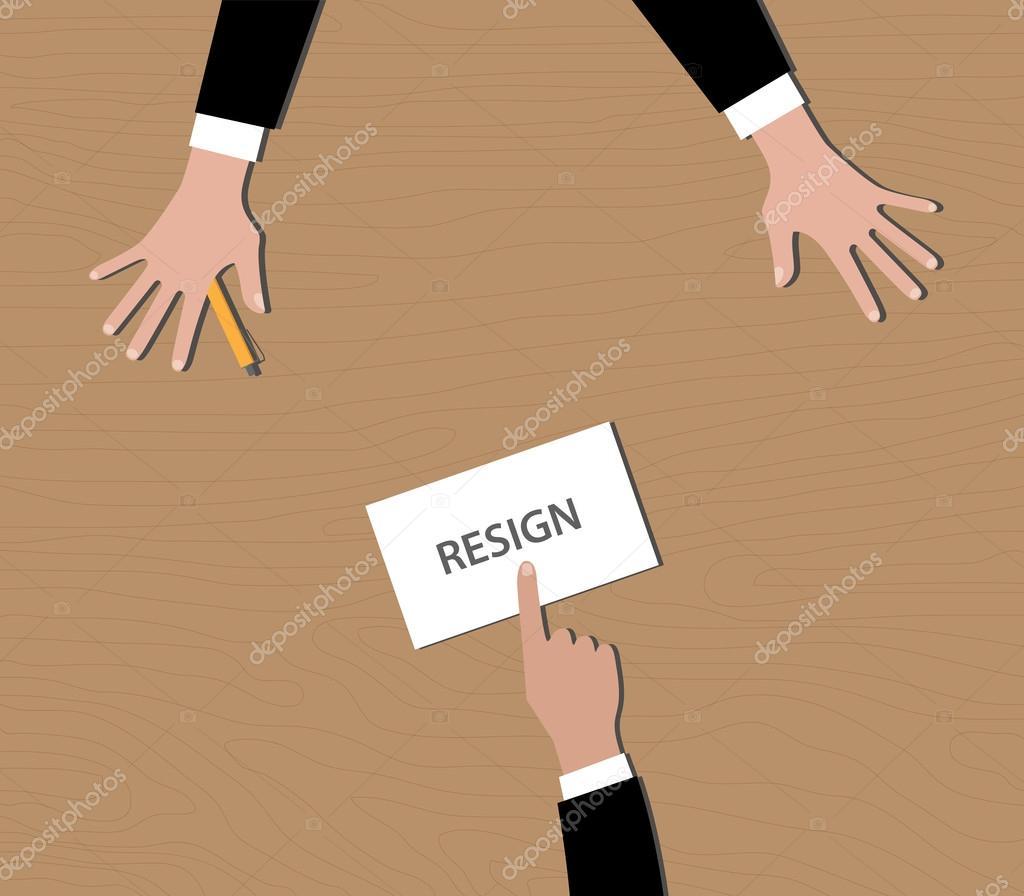 bos のベクターに手紙を辞職辞職...