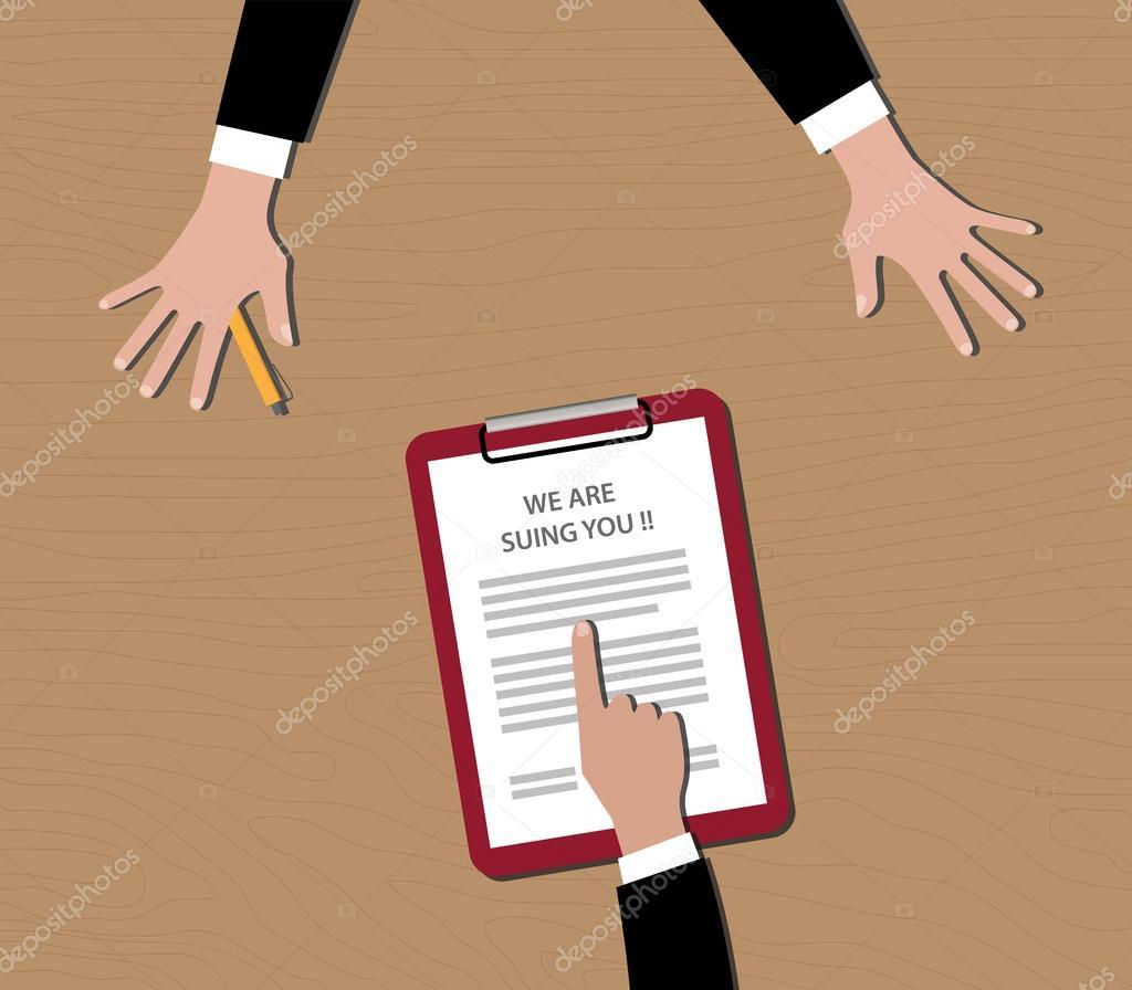 Afficher Presse Papier nous sommes vous poursuivre en justice les gens afficher le document