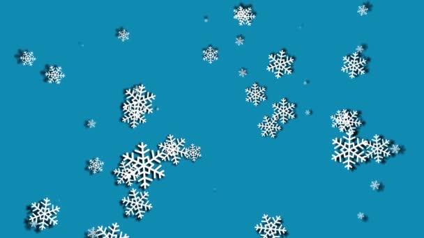 Hóesés kék ég kék részecskék a téli karácsonyi ciklus háttér boldog karácsonyt, ünnep, tél, újév, hópelyhek, hó, ünnepi, hópelyhek,