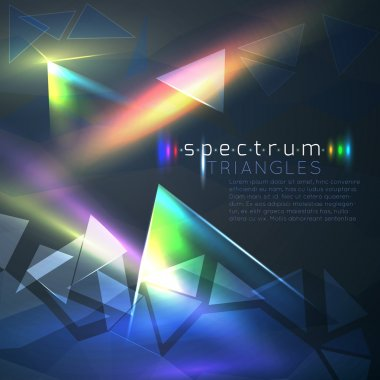 Spectrum triangles background