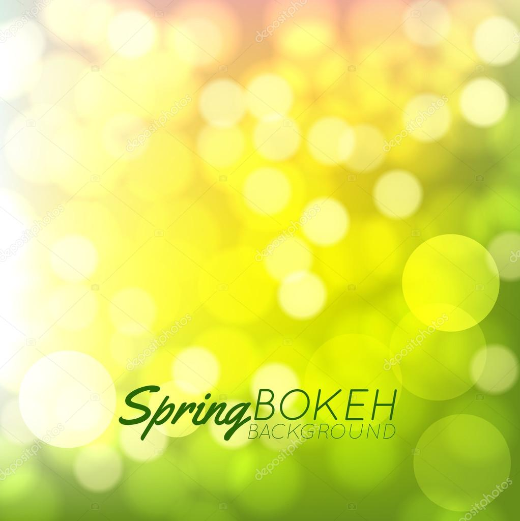 Fresh summer bokeh background