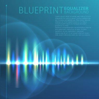Colorful digital sound wave