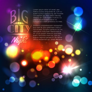 Colorful Abstract city template