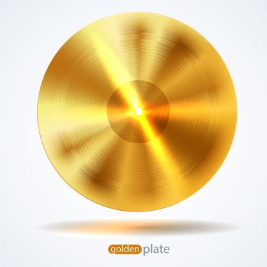 Bright Realistic Golden disk