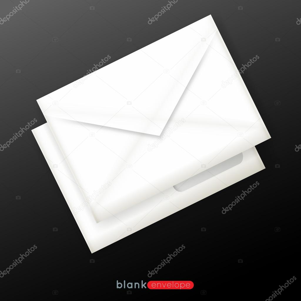 Realistic Blank envelopes