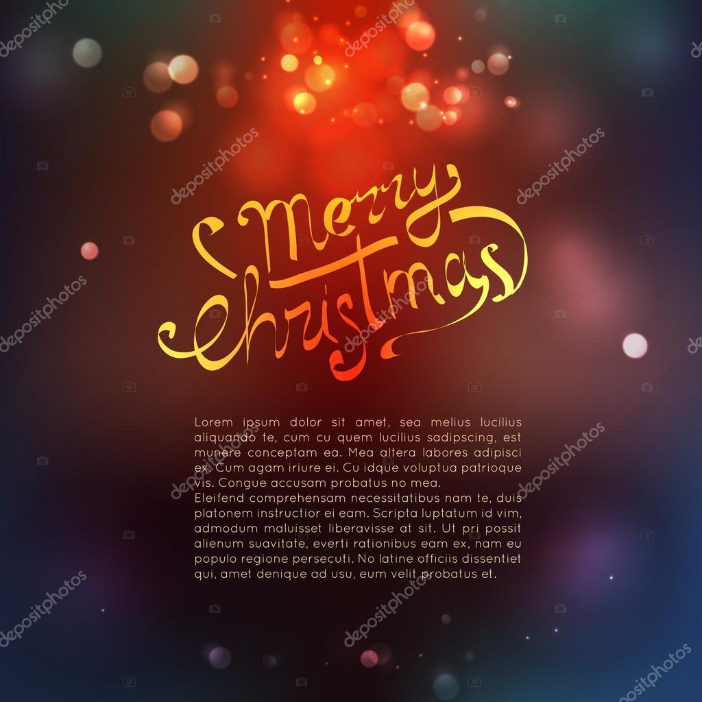 Frohe Weihnachten-Schriftzug mit kalligrafischen Elementen ...