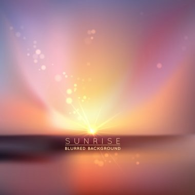 Blurred sunset with defocused lights