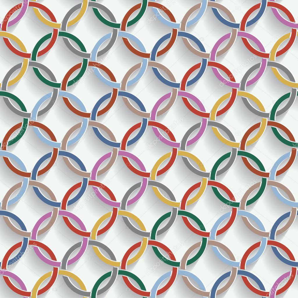 anillos patrón sin costuras torcida 3D — Vector de stock ...