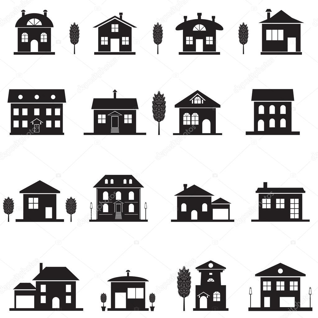 black isolated house silhouette stock vector choicevector gmail