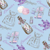 Lavender natural cosmetic seamless pattern.