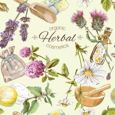Herbal seamless pattern