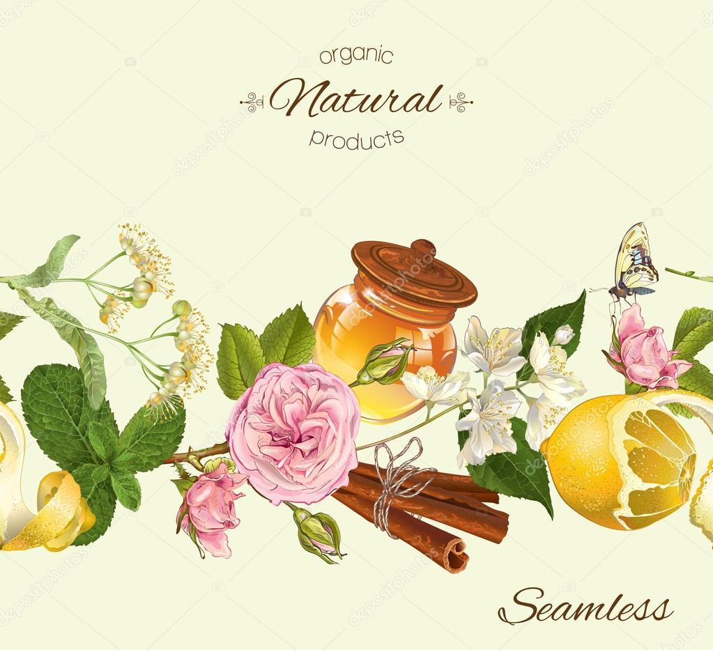 Herbal seamless banner